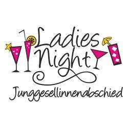 T-Shirt für den Junggesellinnenabschied mit dem Motiv Ladies Night Cocktail Navy