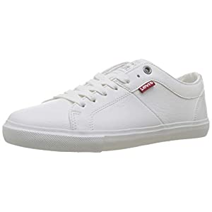 Levi's Women's Woods W Trainers, White (Shoes 50), 6 UK