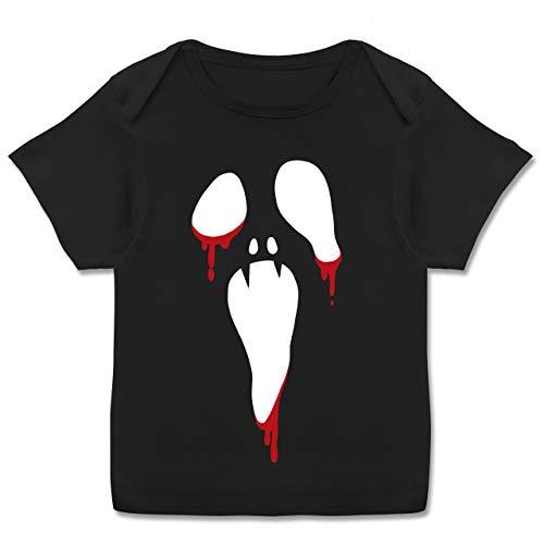 Anlässe Baby - Scream Halloween - 80-86 (18 Monate) - Schwarz - E110B - Kurzarm Baby-Shirt für Jungen und Mädchen