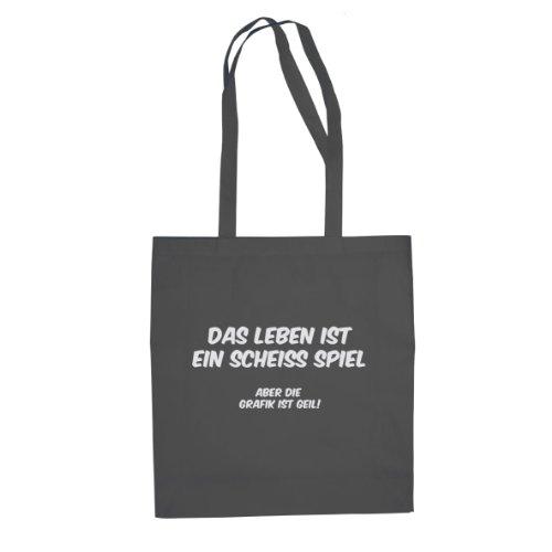 Das Leben ist ein scheiß Spiel - Stofftasche / Beutel Grau