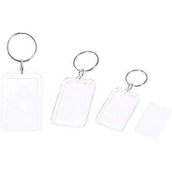 Fotorahmen Schlüsselanhänger für Passbilder Rahmen Herz 5x 5cm 10stk
