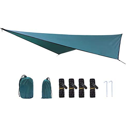 Zeltplane Camping Zelt Tarp Wasserdicht hängematte tarp regen fliegen 360 * 290cm freien camping zelt sonnendach (Wandern Regen Hängematte Fliegen Bei)