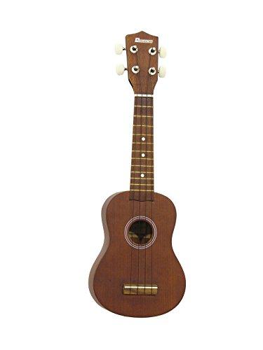 Set aus 2 x Sopran Ukulelen UGWAI aus Nato, braun - 4-saitige Hawaiigitarre / kleine Gitarre aus Natoholz - klangbeisser