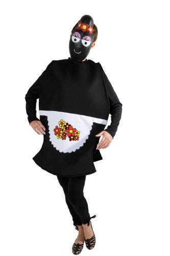 Joker c622-001 barbapapà costume di carnevale, barbamamma donna, in busta, nera