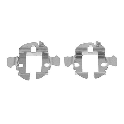 KESOTO 2X Voiture Caché Au Xénon Ampoules H7 Adaptateur Porte-Clips De Retenue De Base Métallique pour Audi