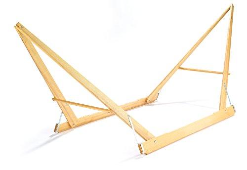 4betterdays Klappbares Hängemattengestell aus Eschenholz (450 x 135 x 145 cm LxBxH) Tragkraft 250 kg, Handgemacht in Österreich
