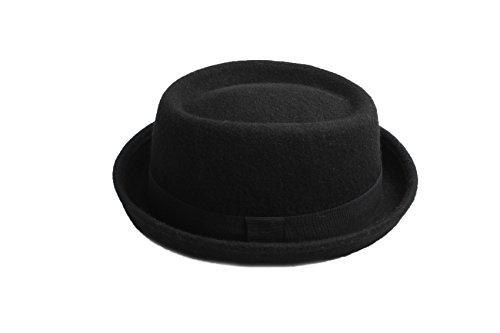 Accessoryo - Männer / Damen 59cm schwarze Wolle Schweinekuchen (Billig Hut)
