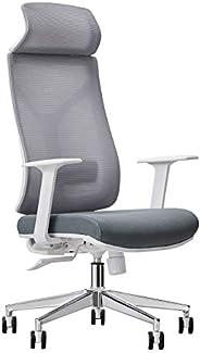 كرسي شبكي عصري مريح ذو ظهر عالٍ للمنزل والمكتب مع مسند رأس كبير قابل للتعديل، دعم قطني