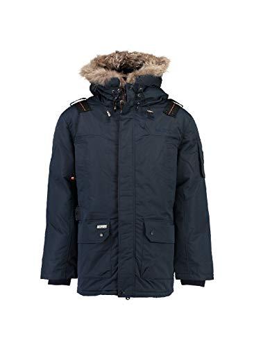 Geographical norway ametyste - parka invernale da uomo, con cappuccio in pelliccia blu navy s