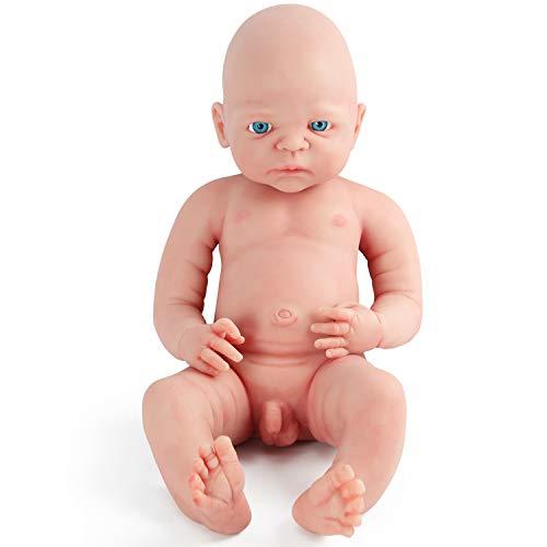 Vollence Poupée Reborn bébé réaliste 55 cm, sans PVC, Silicone...