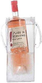 Preisvergleich Produktbild 1 Verpackungseinheit (6 Stück) Flaschentaschen<br / >Ice.bag® Basic Clear 0, 3 mm<br / >110 mm x 110 mm x 255 mm