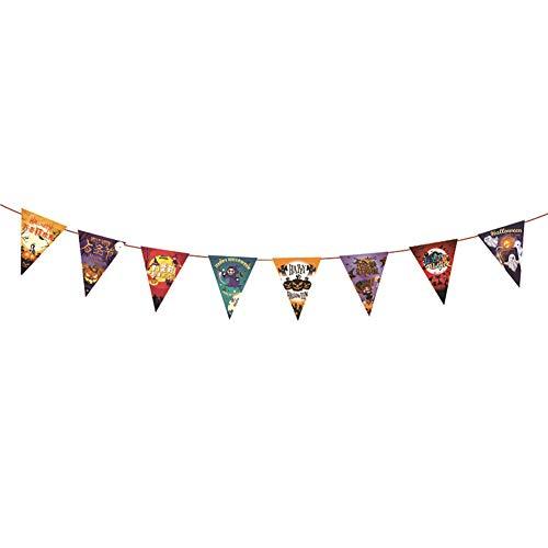 Cutogain Halloween gefärbtes Papier Wimpelkette Banner Kürbis Fledermaus Ghost Home Party DIY Dekoration, 40