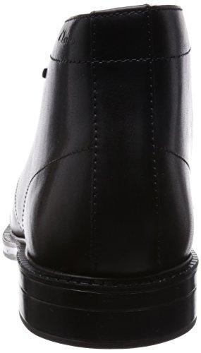 Clarks Chilver Hi GTX, Herren Kurzschaft Stiefel Schwarz (Black Leather)