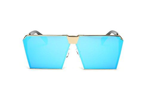 Wkaijc Farbfilm Großer Rahmen Quadratisch Damen Persönlichkeit Mode Sonnenbrille Zustrom Von Menschen Sonnenbrillen ,C