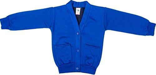 Schule Uniform Mädchen Formelle tragen zwei Fronttasche Warm Fleece Sweat Cardigan Gr. xxl, Blau - (Mädchen Schule Tragen)