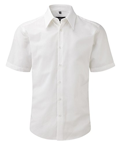 Z955 Körperbetontes kurzärmeliges Hemd aus Tencel® White