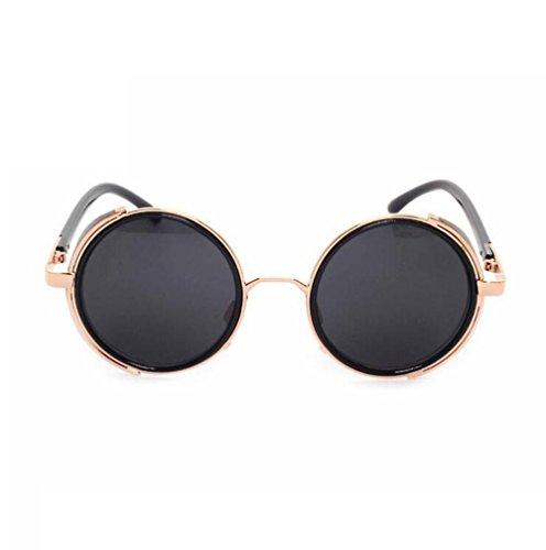 Z&YQ Sonnenbrille Rock und Roll Retro Brille Dampf Punk Metall Rahmen Brillen
