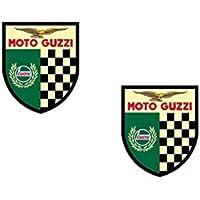 #234 / 2x MOTO GUZZI Aufkleber je ca. 7,3x8,7cm Oldtimer Motorrad MGX V7 V9 Vintage