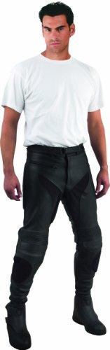 Roleff Pantalón para Moto de Cuero Racewear, Negro, 46