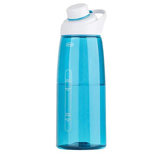 Karcore Trinkflasche 1L Wasserflasche Auslaufsicher Sportflasche, Sport, Schule, Fahrrad, Tritan, BPA-Frei Flasche