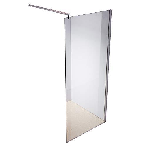 Rapid Teck ® Walk In 10mm Duschwand Glas 70cm x 200cm ESG Sicherheitsglas Duschabtrennung Duschkabine Duschabtrennung Duschtrennwand