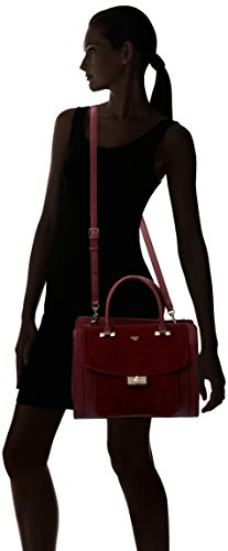 Guess Kingsley Satchel, Sacs à Main Femme, Taille Unique Rouge (Bordeaux)