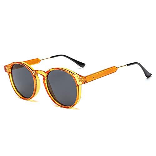 FGRYGF-eyewear Sport-Sonnenbrillen, Vintage Sonnenbrillen, Retro Round Sunglasses Men Women Unisex Vintage Design Small Sun Glasses Driving Shades Male Female Glasses Orange