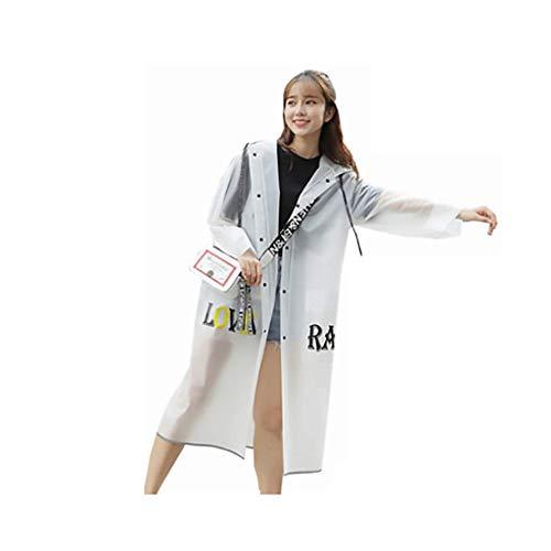 Yuany RaincoatTransparent Simple Fashion Winddichte Regenjacke mit Kapuze für Erwachsene Outdoor-Wanderponcho (Farbe: Schwarz, Größe: M)