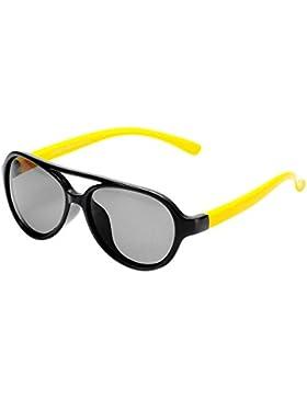 BOZEVON Gafas de Sol para Unisexo Niños Niñas Flexible Rubber Deportivas Polarizadas Aviador Gafas