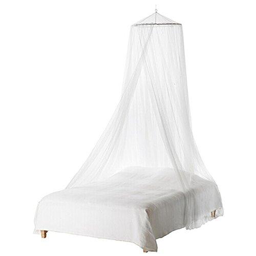 UEETEK Langlebige Rund Moskitonetz Fliegennetz Mückennetz Baby Kleinkind Bett Baldachin (weiß) (Krippe Neben Dem Bett)