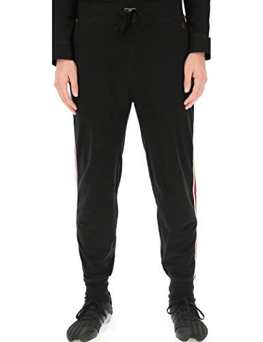 Polo Ralph Lauren Jogginghose mit Laterale Rossa E Bianca E Logo Rot, Schwarz S
