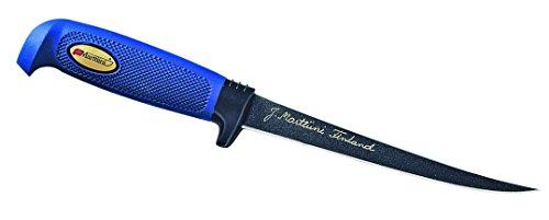Marttiini Messer Finnisches Filiermesser, beschichtete Klinge, 19 cm, Kautschuk-Griff, Lederscheide 902919