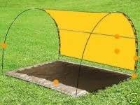 sonnenzelt sonnensegel strandmuschel skincom tarp tarps in sonnengelb gelb sport. Black Bedroom Furniture Sets. Home Design Ideas
