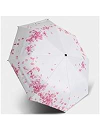 TYXHZL Creative Vinilo Cinco Veces Paraguas Personalizado Ultra-luz Paraguas de Bolsillo Paraguas de Mariposa