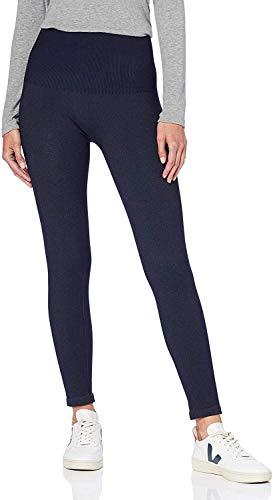 find. Leggings Damen mit Jeans-Optik und hohem Bund, Blau (Blue), 40 (Herstellergröße: Large)