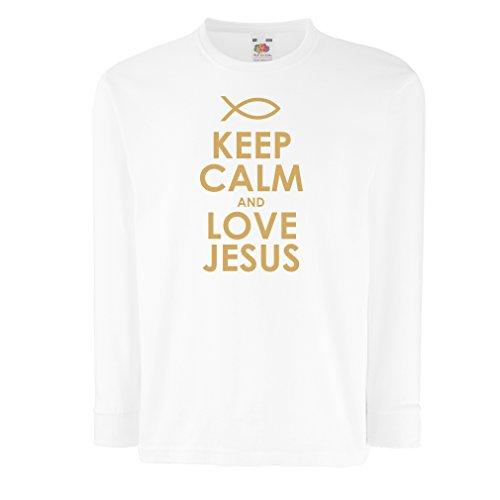 lepni.me Kids Boys/Girls T-Shirt Love Jesus Christian Gifts Christian Shirts Jesus Shirt