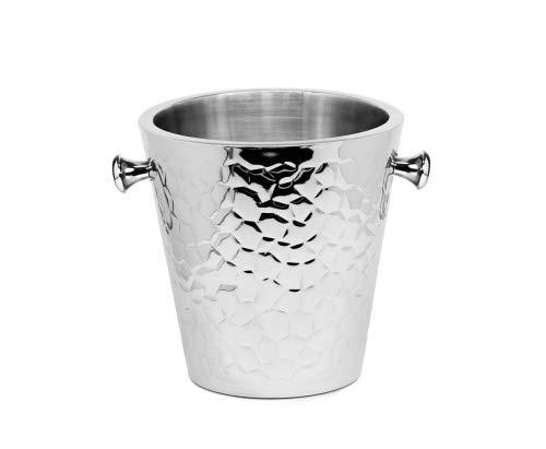 EDZARD Sektkühler Capri/Flaschenkühler, Edelstahl, Höhe 23 cm, Ø 22 cm