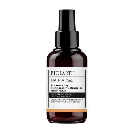 BIOEARTH - Loción en spray para peinar el cabello - Para cabello rizado y ondulado - Con trigo germinado, pantenol y té verde - Producto orgánico, probado en níquel, vegano - 100 ml