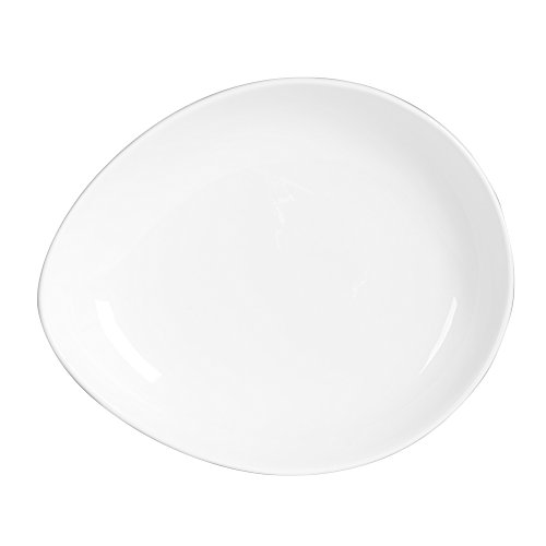 TABLE PASSION - ASSIETTE CREUSE 20X16.5 PAROS (LOT DE 6)