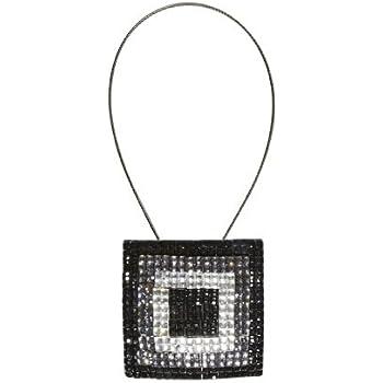 Embrasse aimantée voilages et rideaux Carré Diamant Noir 67095114
