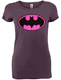 Batman - Camiseta - Manga corta - Mujer morado Lavender Small