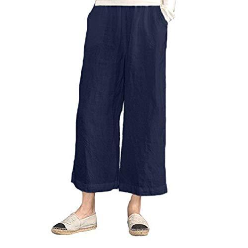 Subfamily® Die elastische Taille der Damen hat eine breite beinhose abgeschnitten Loose Hoserock Haremshose Yogahose Weich Stretch Weites Bein Palazzo ()