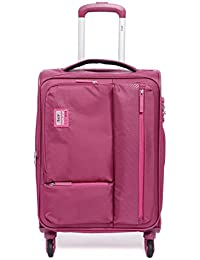 VIP Polyester 58.5 cms Berry Softsided Cabin Luggage (STAX)