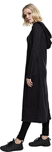 Urban Classics Damen Strickjacke Ladies Space Dye Hooded Cardigan Mehrfarbig (Black/White 50)