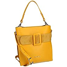 98131c8a4d Eeayyygch Borsa Donna con Tracolla Pierre Cardin in Pelle Gialla Made  INTALY VN1097 (Colore :