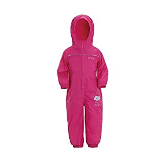 Regatta Unisex Kids Puddle IV All-in-One Suit, Pink (Jem), 36-48  months