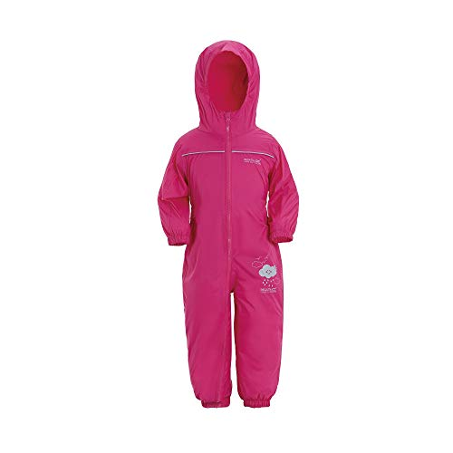 Regatta Puddle IV Kinder Regen-Overall, Pink, 12-18Monate - Mädchen-größe 14 Für Ski-jacken
