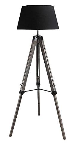 STATIV STEHLEUCHTE WOHNZIMMERLAMPE RETRO / SHABBY STEHLAMPE Höhe 100-145cm