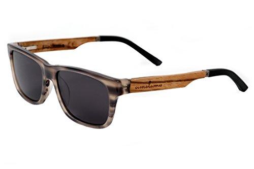 amoloma Acetat - Holz - Hybrid Sonnenbrille Karée stil Grau