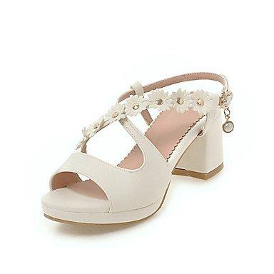 Sandales femmes Printemps Été Chaussures Chaussures Club Nouveauté Confort Supports personnalisés Office & LeatheretteWedding Partie Carrière &AMP; White